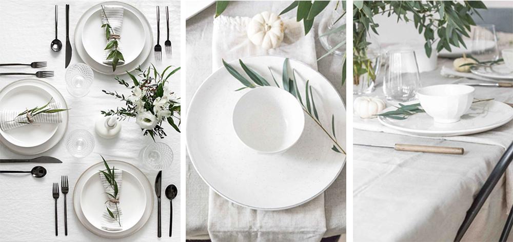 como decorar mesa minimalista para acción de gracias o thanksgiving fácil y económica