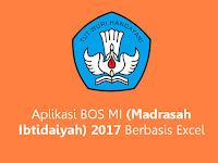 Aplikasi BOS MI (Madrasah Ibtidaiyah) 2017 Berbasis Excel