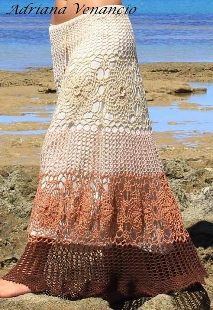 Regias Faldas a Crochet