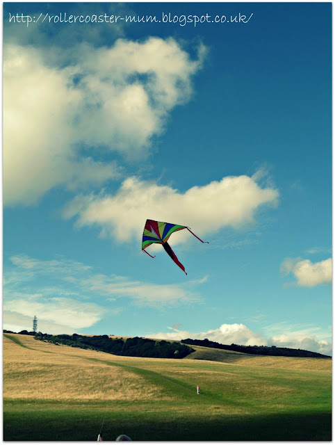 Kite Flying on Butser Hill part of National Trust #50things
