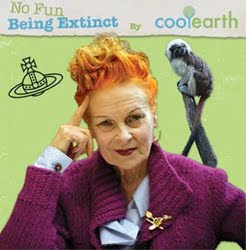Vivienne Westwood to support rainforest charity Cool Earth
