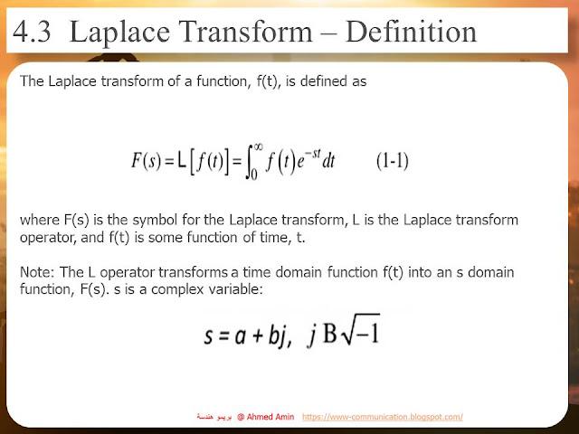 Application of laplace transform in Automatic Control.ppt  تطبيقات معادلات لابلس في مجال الكنترول