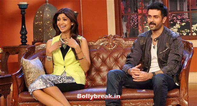 Shilpa Shetty and Harman Baweja, Shilpa Shetty Promotes Dishkiyaaoon Promotion on Comedy Night with Kapil