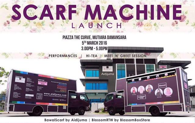 Aidijuma lancarkan Scarf Machine