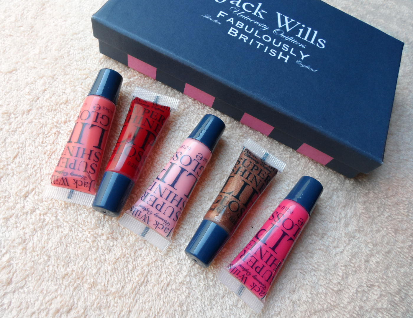 fabulously British lip gloss set blogger review liz breygel january girl