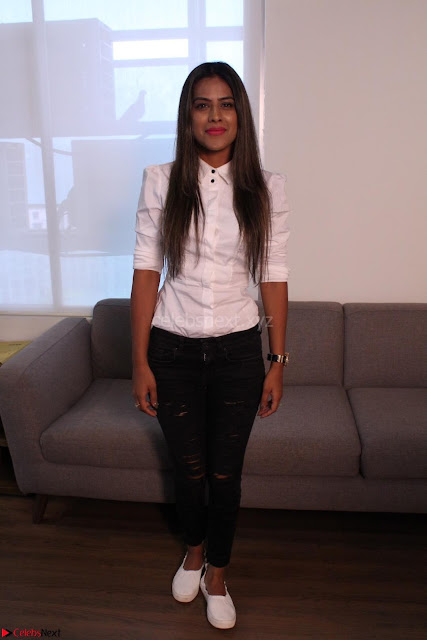 Nia Sharma at an itnerview for For Web Series Twisted 05.JPG