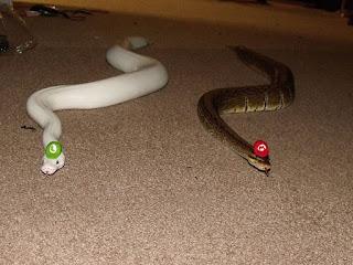 Dos serpientes disfrazadas