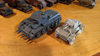 Warlord Games British Cromwell, Daimler Mk1 and Ghurkas
