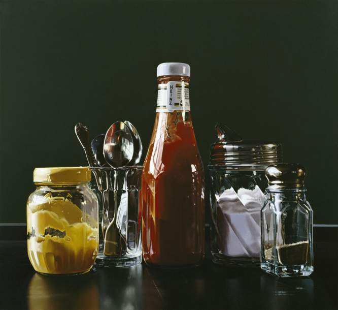 08-Still-Life-with-Spoons-Ralph-Goings-Hyper-Realistic-Paintings-of-Everyday-Scenes-www-designstack-co