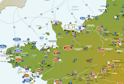 interactive tourist travel map NORTHERN FRANCE