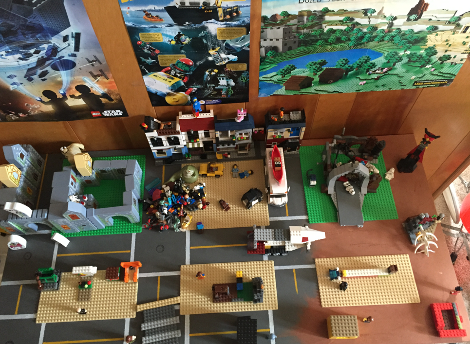 Custom Lego Table Photo Reference Top Kids Room