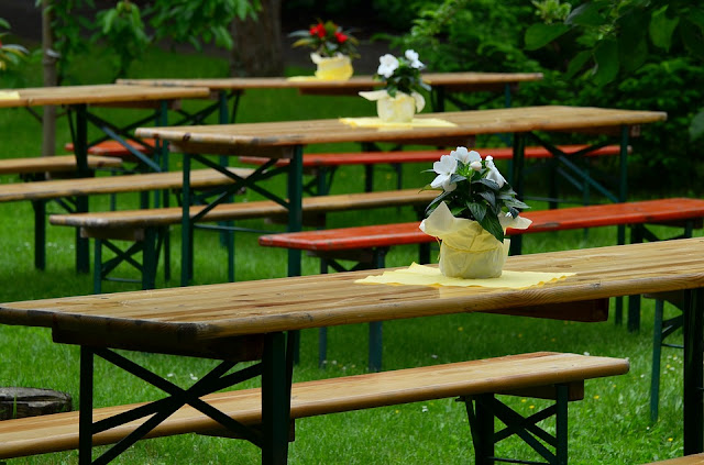 Mesas de picnic para jardines