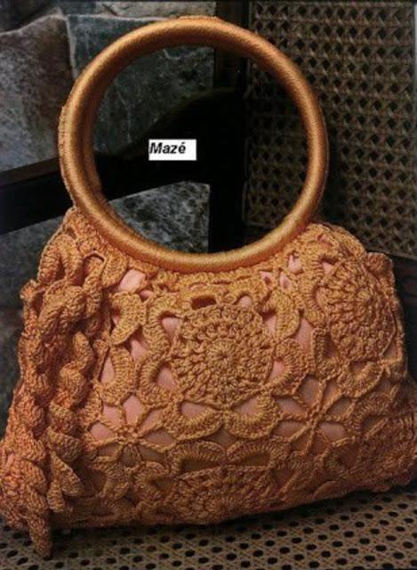 Patrón #1364: Bolso a Crochet