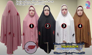 Jilbab syar'i tabur bordir ukuran jumbo model pinguin