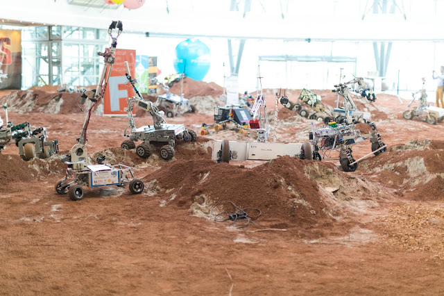 Mars rovers at ERC 2016. Photo Credit: ERC