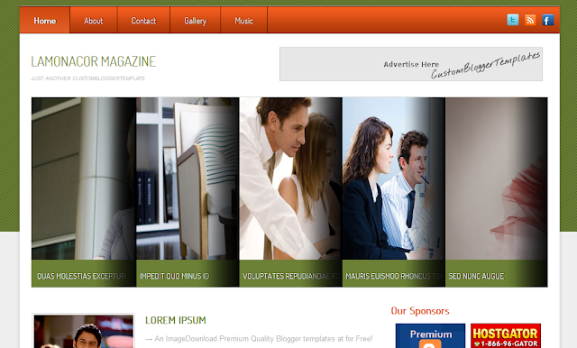 Business Magazine Blogger Template