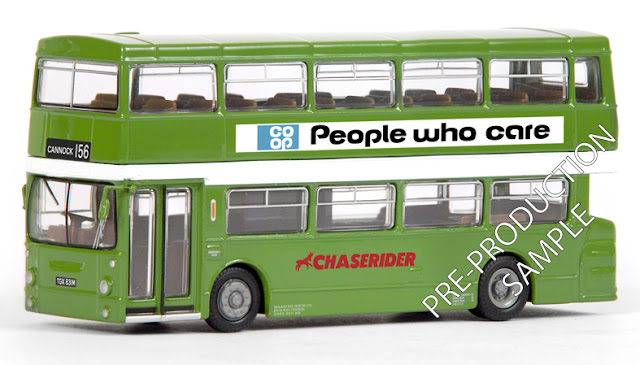 Exclusive First Editions: 28013 - Daimler DMS 1 Door - Chaserider / Midland Red North Registration number TGX 831M. Operating route 156 to Cannock. Scheduled for a June release RRP £34.50