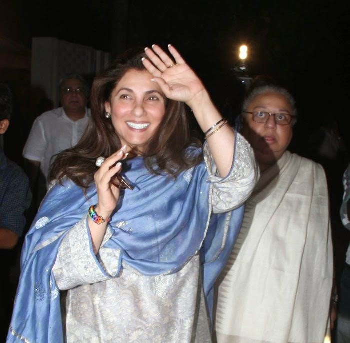 Dimple Kapadia, Pics from Condolence Meeting of Late Filmmaker Ravi Chopra