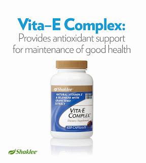 Vitamin E Shaklee untuk kulit cantik, hilangkan parut.