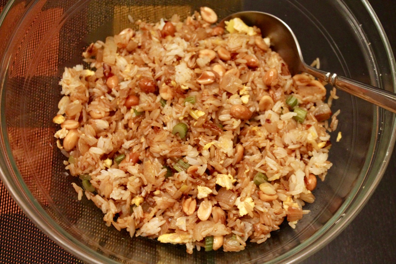 Cook in dine out recipe for a thanksgiving rebel kung pao style fried rice ccuart Image collections
