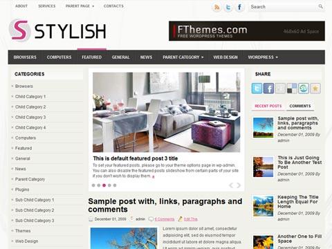 Stylish Free WordPress Theme
