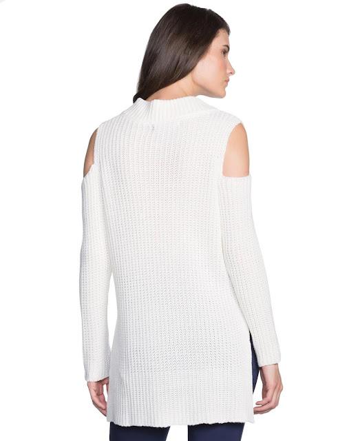 Suéter confeccionado em tricô de peso pesado, grosso e macio