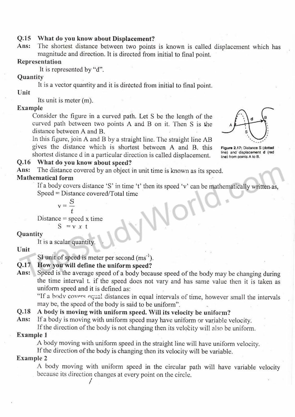 KIPS 9th Class Kinematics Physics Complete Notes (With PDF) | Top