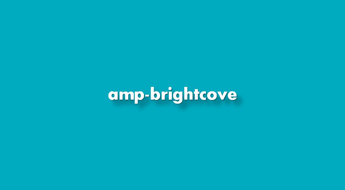 Instrucciones amp-brightcove