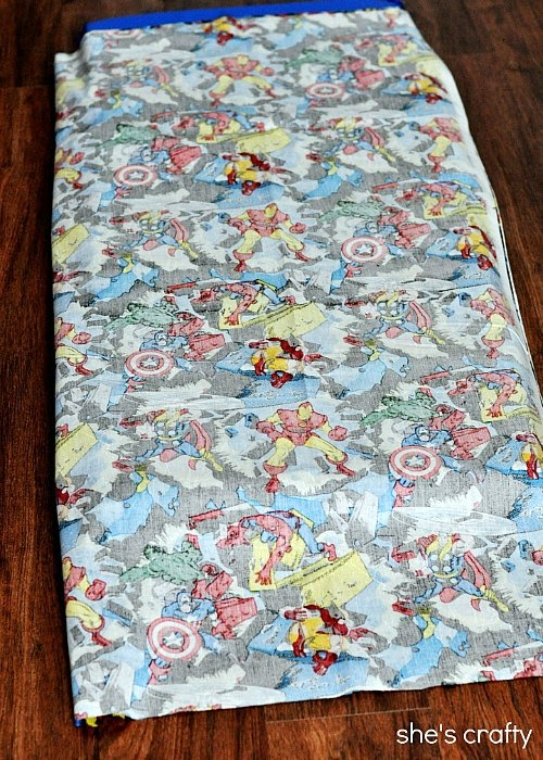 Supplies needed to make a kindermat cover or a nap mat cover