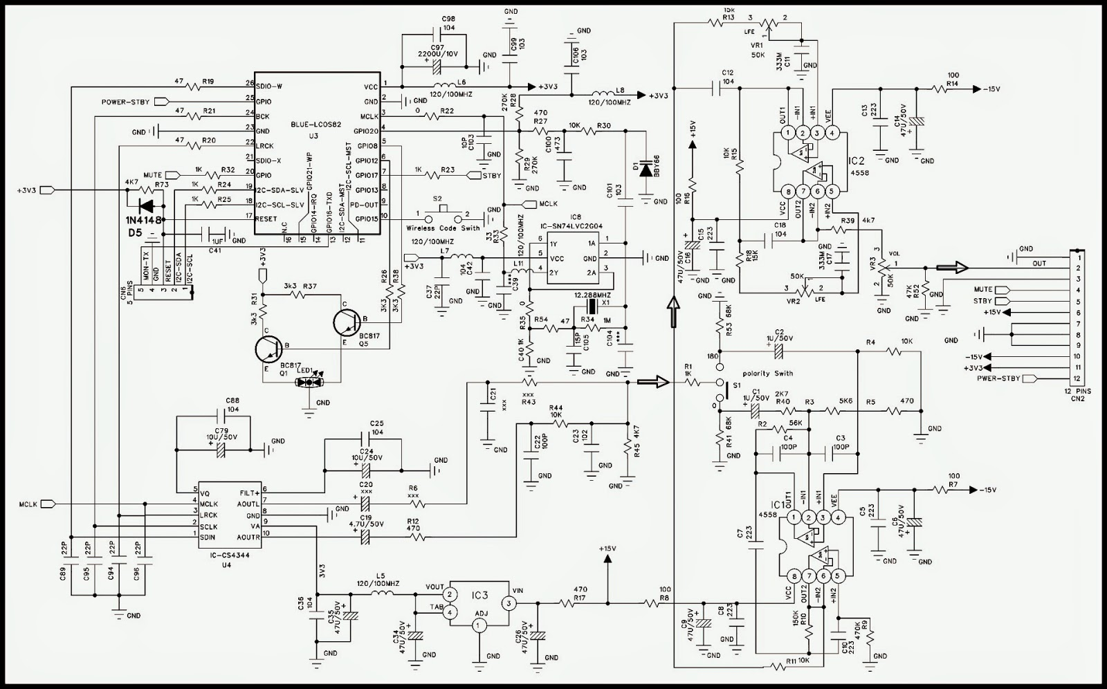 Jbl Sb 300 Sb 230 Powered Sound Bar Schematic Electro Help