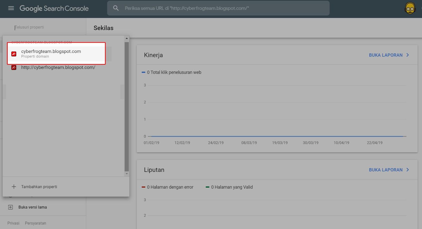 Cara mengatasi webmaster Google Search Console KOSONG ...