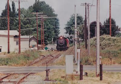 Cowlitz, Chehalis & Cascade 2-8-2 #15 in Chehalis, Washington in 1992