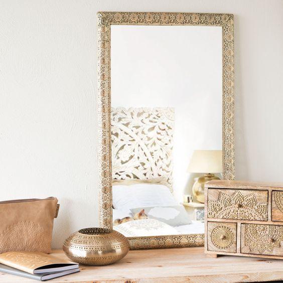 Deco espejos dorados for Espejos dorados baratos