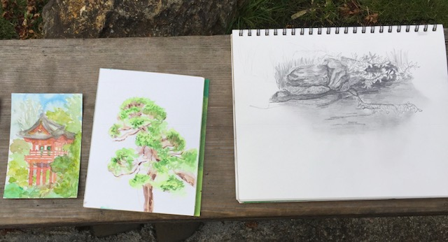 concord art association plein air sketching