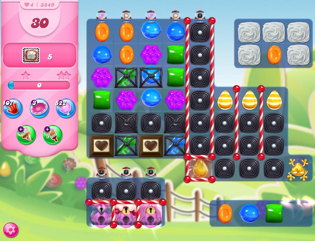 Candy Crush Saga level 3849