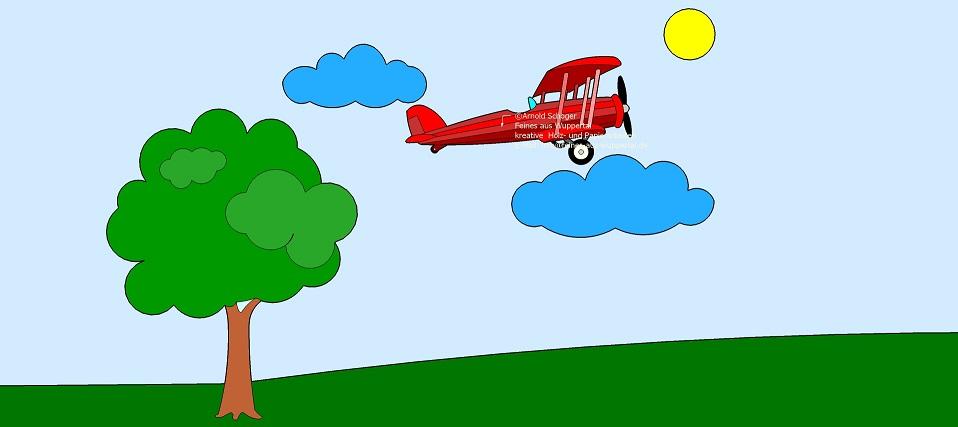 Gratis Ausmalbild Doppeldecker Flugzeug Laubsägen Und Holzwerken