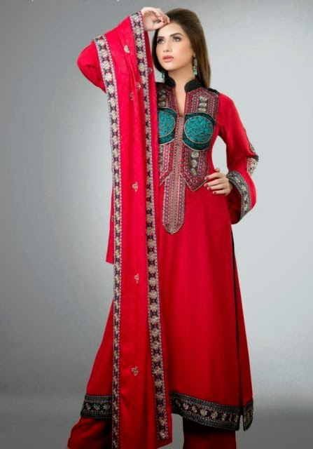 2ca9fea07 New Pakistani winter dresses for women - The Famous Pakistani 2015