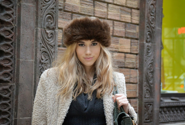 winter style, makeup, fashion, girl, chicago, fur, winter