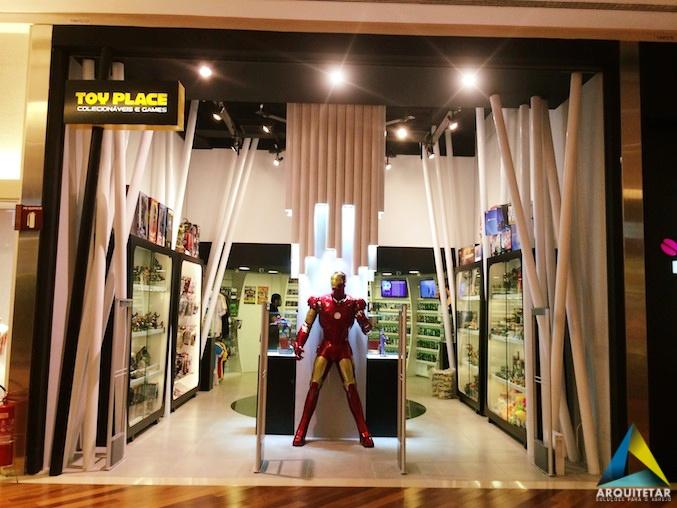 projeto arquitetura fachada letreiro loja brinquedos colecionáveis games
