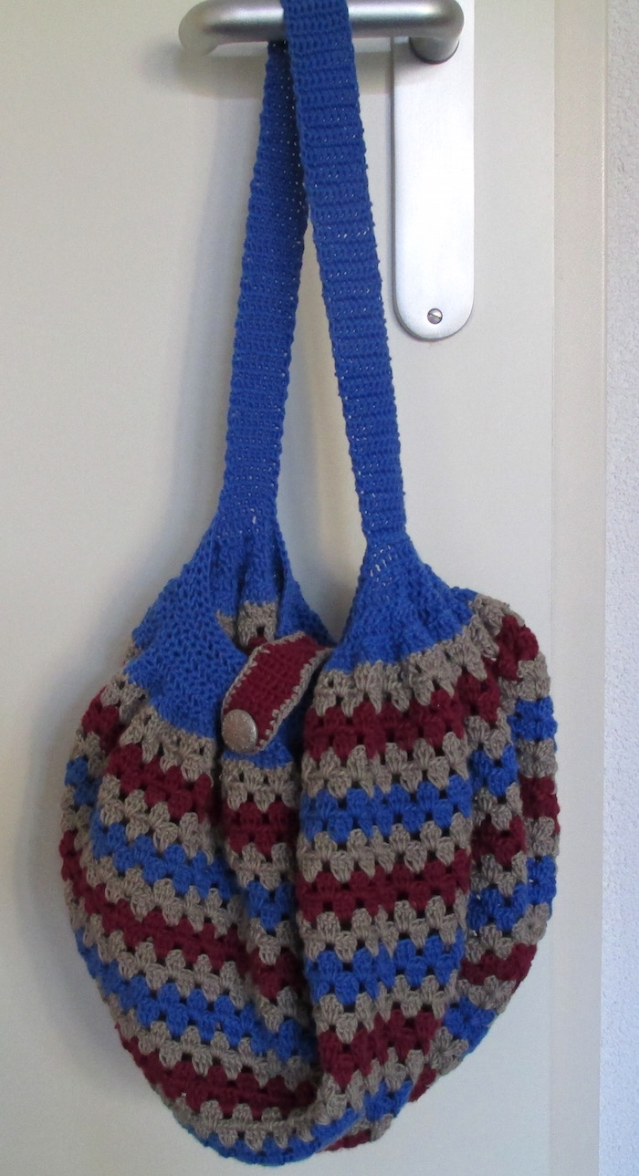 Schoudertas Haken : Heyleuk granny square tas en tapestry