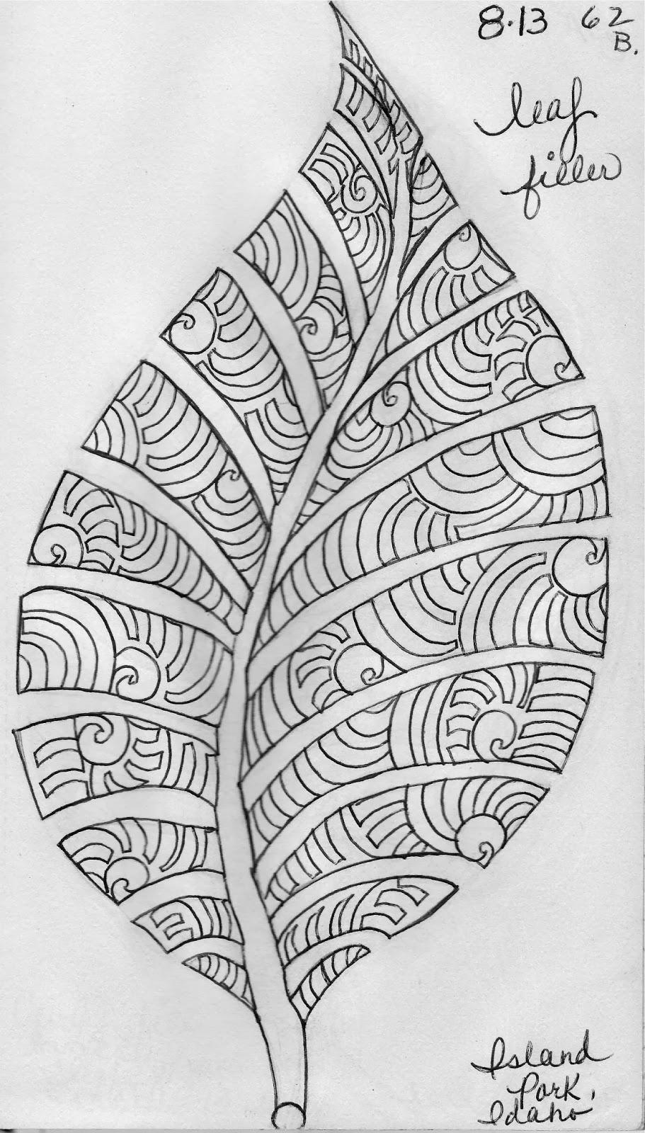 LuAnn Kessi Sketch BookLeaf Design 6