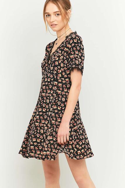 pins needles tea dress.