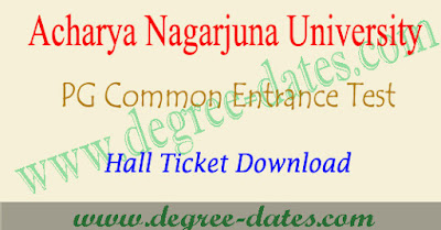 ANUPGCET 2018 hall ticket download anucet admit card results
