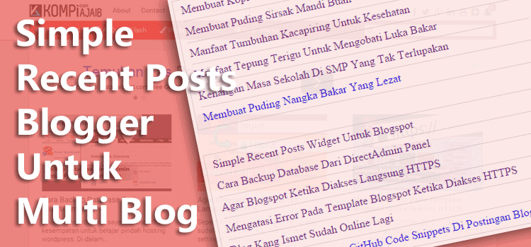 Simple Recent Posts Blogger Untuk Multi Blog