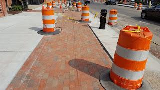 new brick walkways downtown