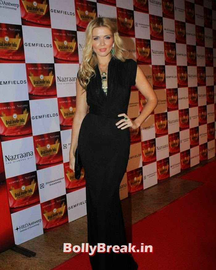 Elena Samodanova, Pics of Celebs in Sexy Dresses & Gowns at Gemfields & Nazraana Retail Jeweller India Awards 2014