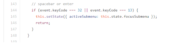 space and enter key code example