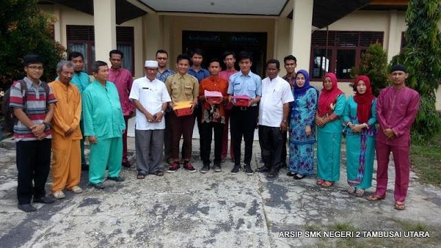 Penjemputan siswa PKL SMK N 2 Tambusai Utara di Kantor Camat Tambusai Utara 21