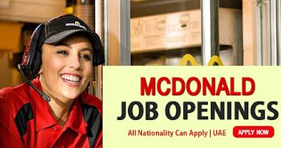 Latest Job Opening In McDonalds Dubai