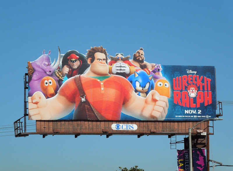Disney Wreck It Ralph billboard